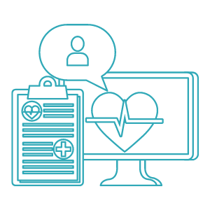 Graphic depicting an online exercise physiology telehealth service